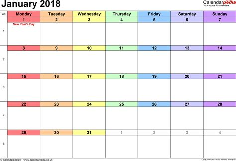 january 2018 calendar portrait 8 printable calendar 2018