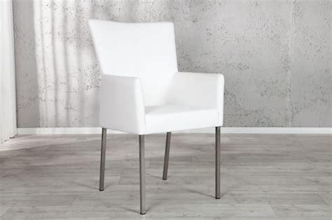 stuhl weiß mit armlehne stuhl esszimmerstuhl urbano mit armlehne weiss kunstleder