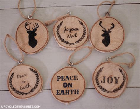 how to make wooden ornaments 40 diy ornaments to decorate the tree
