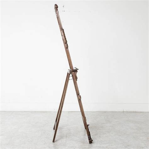 Easel Floor L 19th Century Carved Walnut Artist S Floor Easel Or Display Stand At 1stdibs