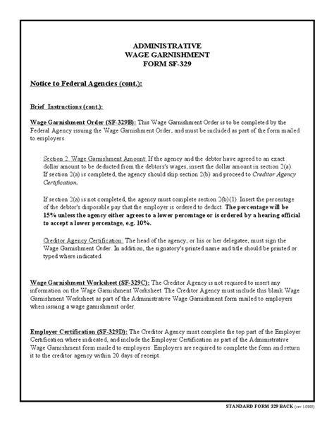 Sle Hardship Letter For Wage Garnishment Administrative Wage Garnishment Form Hashdoc