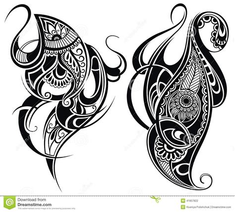 black and white tribal tattoos tribal elements stock vector image 41857822