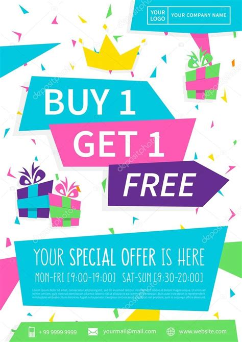 Promo 5 Free 1 promotion banner buy 1 get 1 free vector illustration special offer advertising poster design