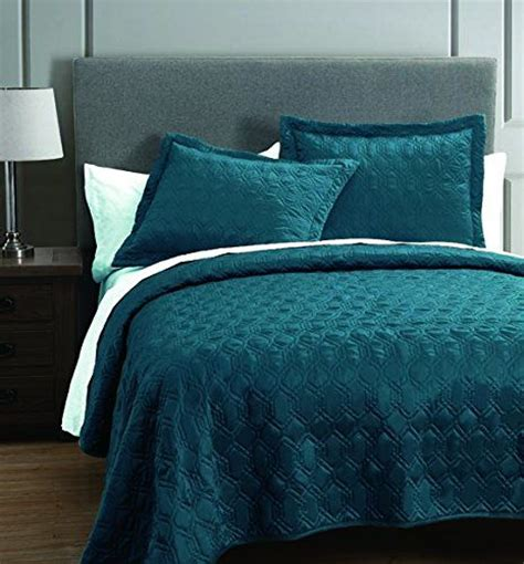 rogen teal  piece coverlet set king sl home fashions