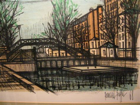 Bernard Buffet Canal St Martin 1968 Lithograph For Sale Bernard Buffet Paintings For Sale