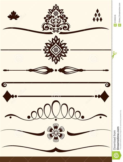 ornamental dividers  decorations stock vector