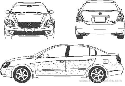 blueprints > cars > nissan > nissan altima (2003)