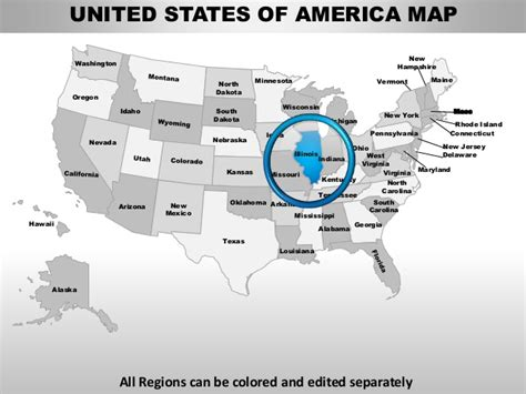 Usa Illinois State Powerpoint County Editable Ppt Maps And Templates Oregon State Powerpoint Template
