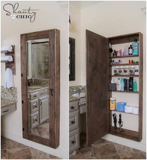 making a bathroom cabinet how to make mirror storage case home design garden