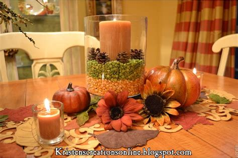 fall dining table centerpiece from kristen s creations