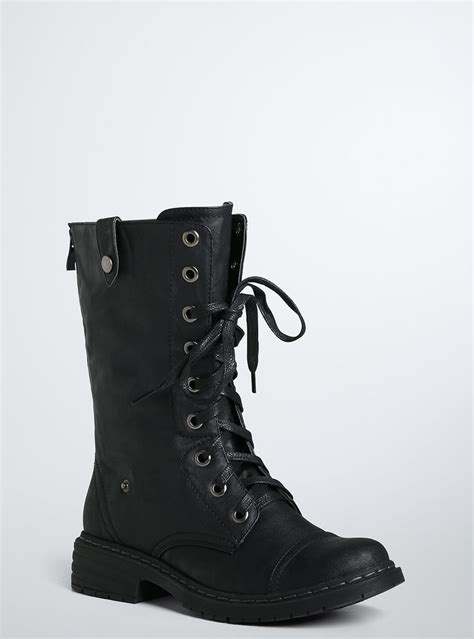 fold combat boots wide width torrid clothes and