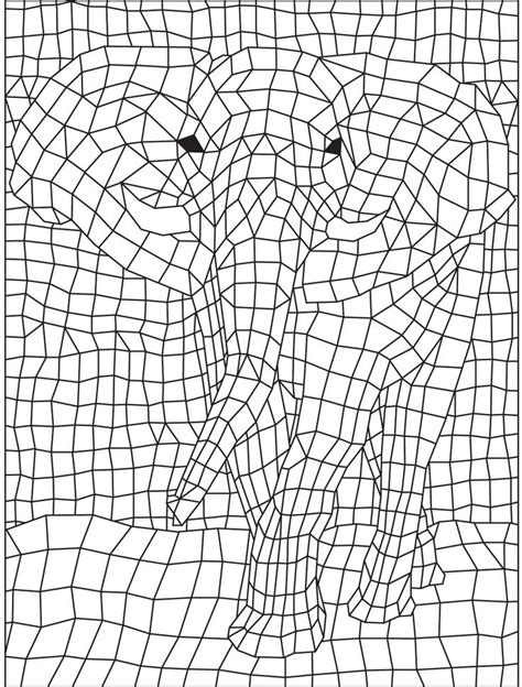 geometric elephant coloring pages geometric elephant colorish coloring book app for