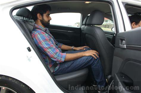 cars with most leg room 2016 hyundai elantra rear legroom review indian autos
