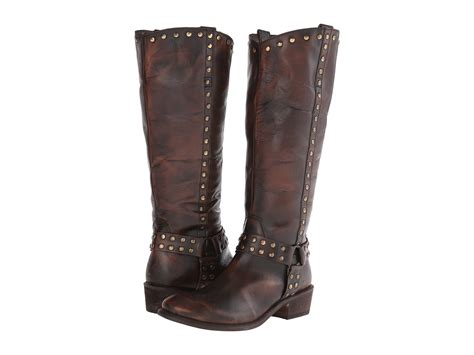roper studded harness boot brown zappos free