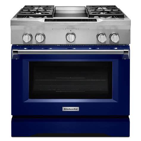 kitchenaid 36 gas range kitchenaid 36 in 5 1 cu ft dual fuel range with