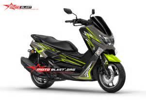 Stiker Tulisan Kawasaki by Mega Gallery Kumpulan Modifikasi Striping Yamaha Nmax