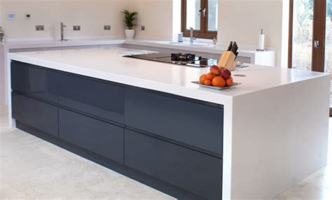 Kitchen Island Used glacier white corian 174 kitchen by morpeth kitchen company
