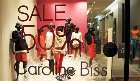 caroline biss plastic sale window display best window
