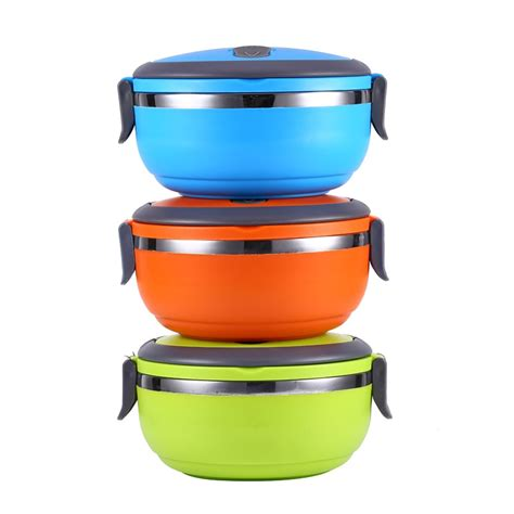 Stenlis Lunch Box Thermo Tunggal 304 stainless steel thermos bento lunch box for thermal food container food thermos