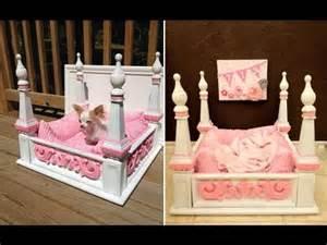 Diy Pet Canopy Bed Diy Bed Inspirational Diy Ideas For Pet Beds