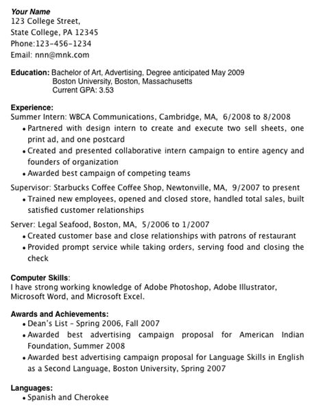 template college student resume template 11 the here is without