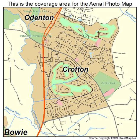 aerial photography map of crofton md maryland