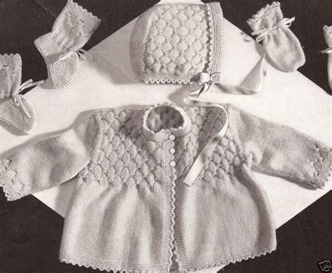 vintage knitting pattern baby bonnet vintage knitting pattern to make baby smocking set sweater