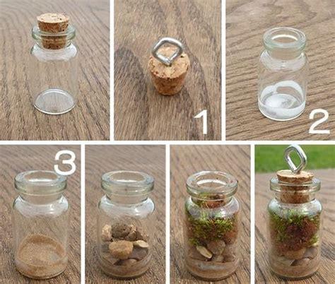 manualidades de navidad con fradcos de gerber terrarios en frascos de vidrio miniatura manualidades