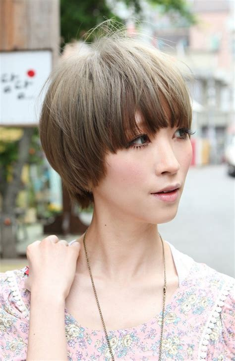 girl japanese hairstyles beautiful bowl cut with retro fringe short japanese