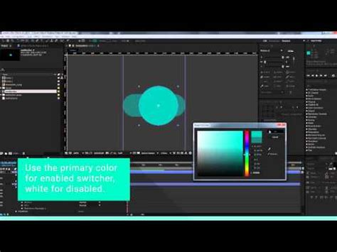 material design after effect material design switches after effects tutorial youtube