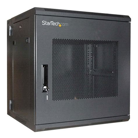 Rack Mount Door startech 12u 19 inch hinged wall mount server rack cabinet with steel mesh door