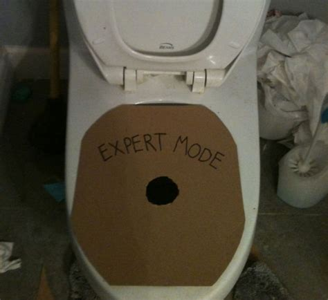 Toilet Meme - challenge accepted expert mode toilet geekologie