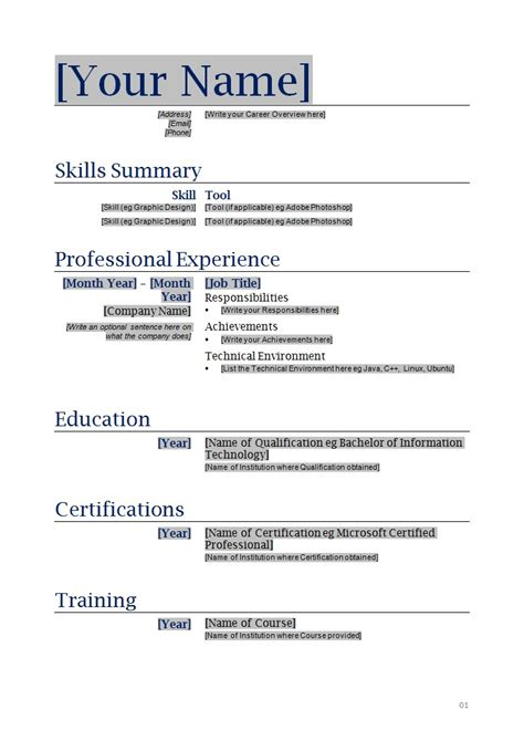 Resume Templates Blank free blanks resumes templates posts related to free