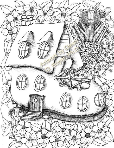 printable fairy house coloring pages fairy houses and fairy doors vol 3 and 4 individual coloring