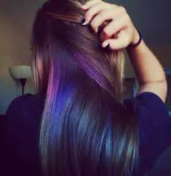 hairstyles with peekaboo purple layer 50 stylish highlighted hairstyles for black hair 2017