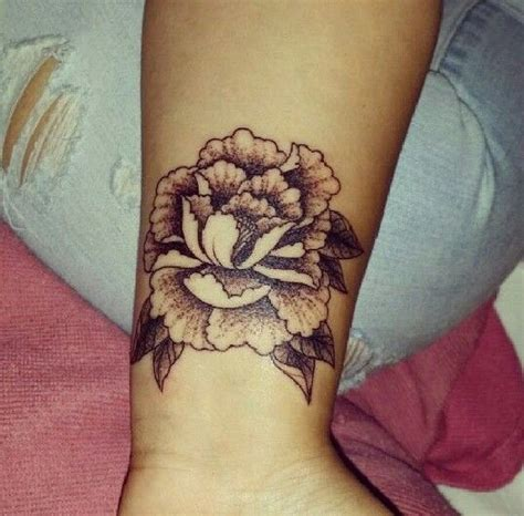 peony wrist tattoo 17 best ideas about wrist band on band