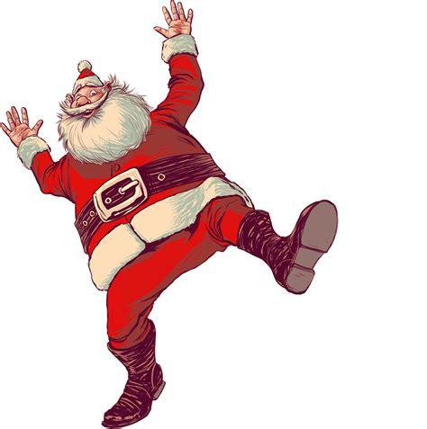 happy santa claus dancing animated gif image