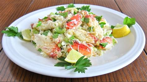 celebration crab salad    years eve menu gianni