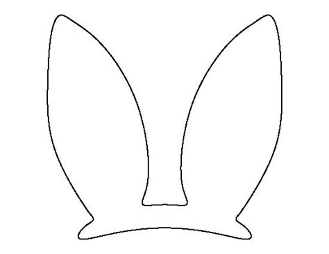 bunny ears template pdf 25 best ideas about easter bunny ears on