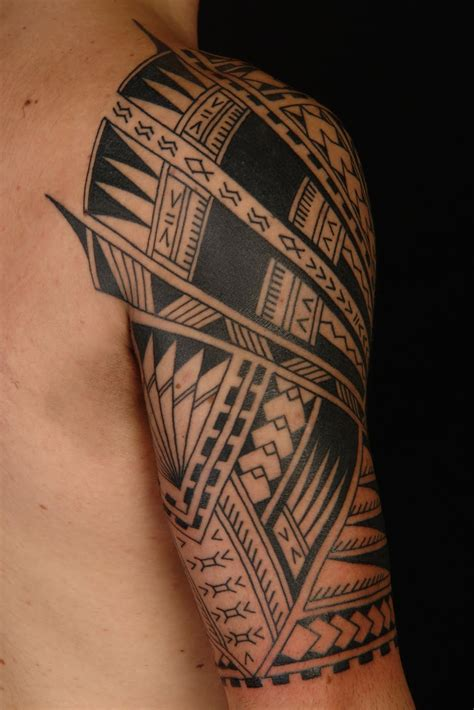 tropical quarter sleeve tattoo hawaiian half sleeve black tattoo designs tattoo love