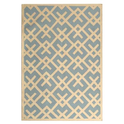 light blue moroccan rug safavieh handwoven moroccan reversible dhurrie geometric pattern light blue ivory wool rug 6