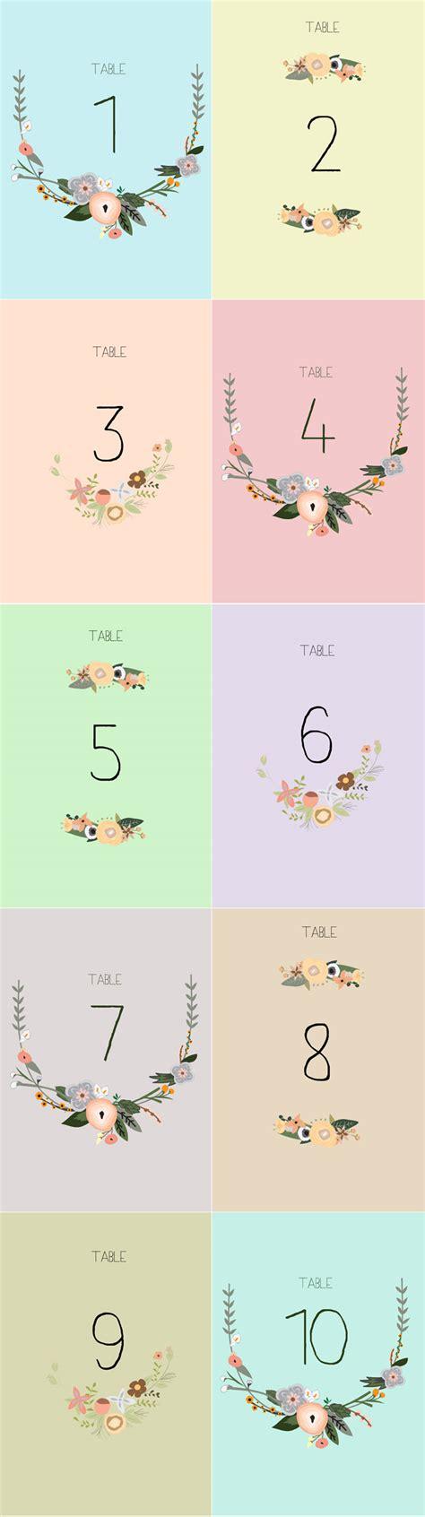 printable table numbers free printable table numbers