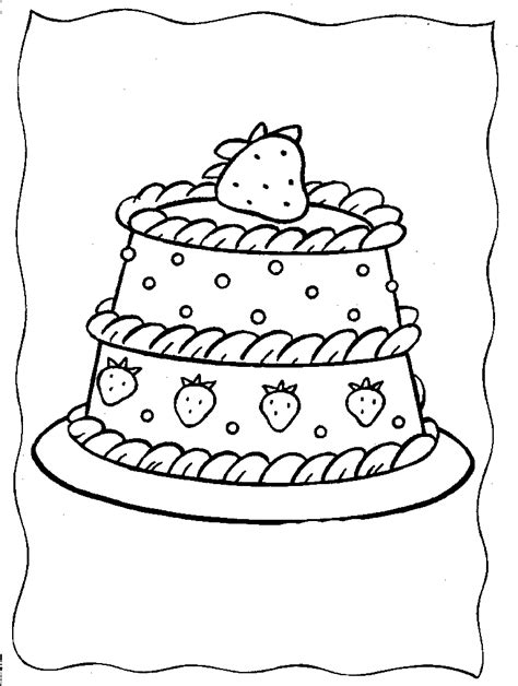 cake with a delicious strawberry coloring book pages strawberry shortcake coloring pages free coloring home