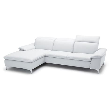 left facing sectional evigt left facing sectional in white eurway modern