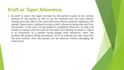 types of pattern allowances ppt types of pattern and their material pattern allowances