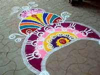 This Is Free Hand Rangoli Design