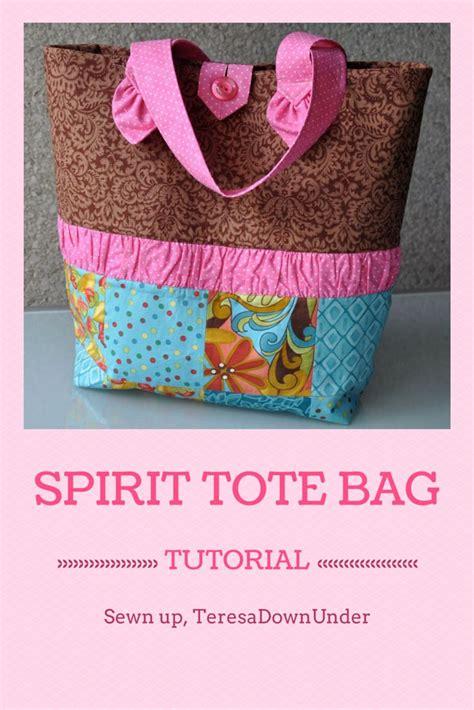 Tutorial Tote Bag Sewing | spirit tote bag free tutorial tote bag