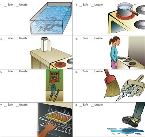 Exles Of Accidents In The Kitchen by Kitchen Safety Health School Safety