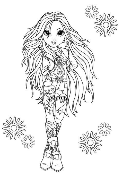 moxie girlz coloring pages 3 coloring kids