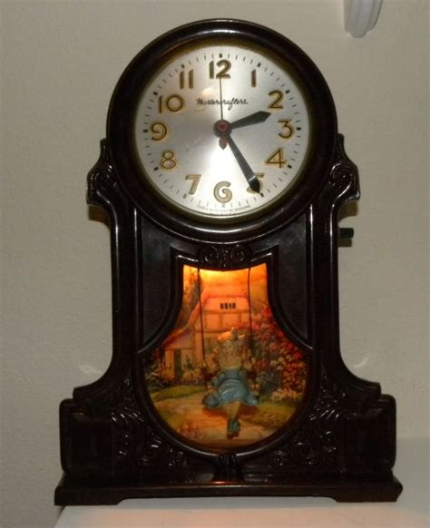 swing clock clock with girl on a swing mastercrafters lighted